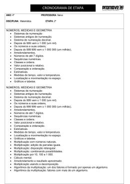 CRONOGRAMA DE ETAPA