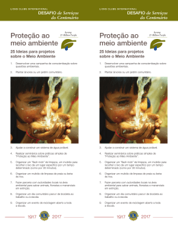 Ideias de projetos - Lions Clubs International