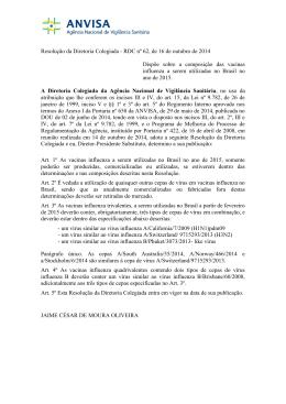 RDC nº 62, de 16 de outubro de 2014