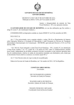 DECRETO N.19227, DE 07 DE OUTUBRO DE 2014.