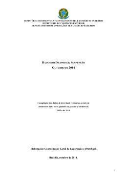 outubro de 2014 - Ministério do Desenvolvimento, Indústria e