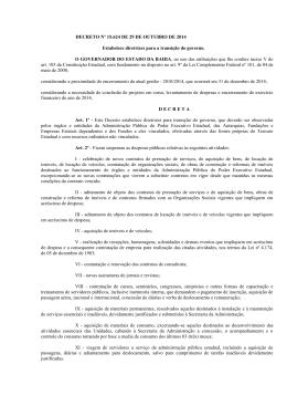 DECRETO Nº 15.624 DE 29 DE OUTUBRO DE 2014
