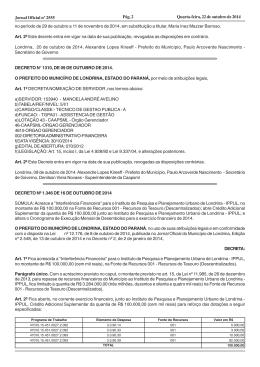 Quarta-feira, 22 de outubro de 2014 Pág. 2 Jornal Oficial