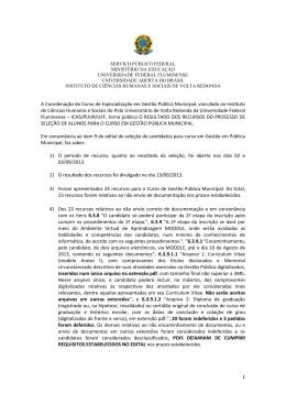Resultados dos recursos_Curso de Gestão Pública Municipal