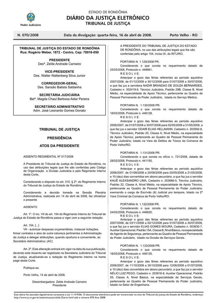 1f47d92dd7 16 - Tribunal de Justiça de Rondônia