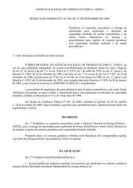 Resolução ANEEL no. 390
