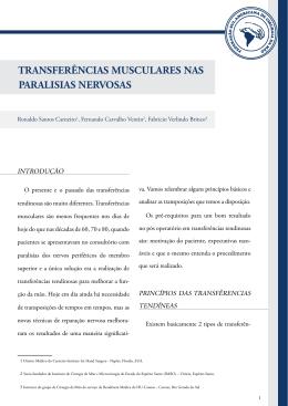 TRANSFERÊNCIAS MUSCULARES NAS PARALISIAS NERVOSAS