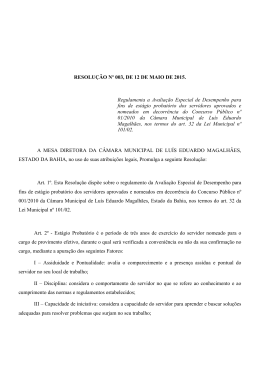 Resolução Nº 003/2015 - Portal da Câmara Municipal de Luís