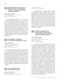 Estudo multicêntrico de pacientes com hipertensão arterial