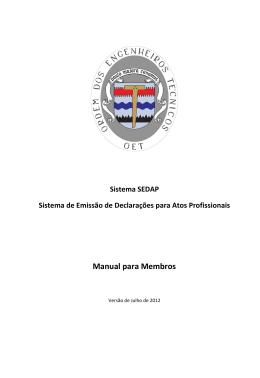 Manual para Membros