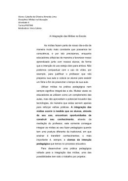 Aluno: Cybelle de Oliveira Almeida Lima Disciplina