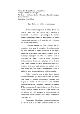 Nome: Cybelle de Oliveira Almeida Lima. Disciplina