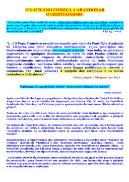 A IGREJA DE FRANCISCO NÃO É MAIS CATÓLICA/CRISTÃ