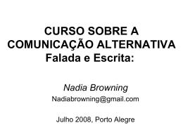 PALESTRA CAA • Nadia Browning - Assistiva Tecnologia e Educação