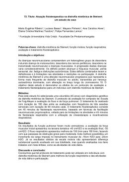 Atuação fisioterapeutica na distrofia miotônica de Steinert