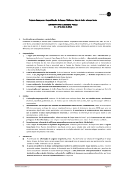 Fórum Cidadania Lx Página 1 1. Considerações genéricas sobre o