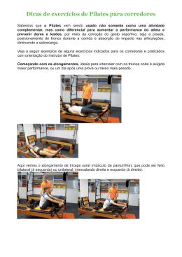 Dicas pilates para corredores