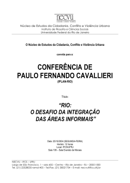 CONFERÊNCIA DE PAULO FERNANDO CAVALLIERI