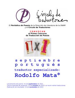 Rodolfo Mata* - Colegio de Letras Modernas