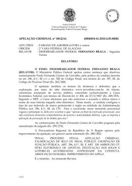 APELAÇÃO CRIMINAL nº 8812/AL (0006854