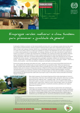 Empregos verdes - International Labour Organization