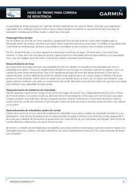 1 FASES DE TREINO PARA CORRIDA DE RESISTÊNCIA