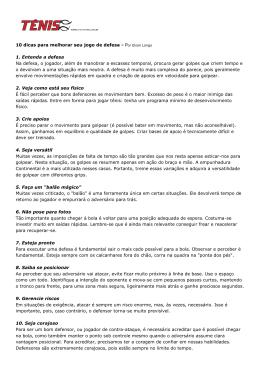 10 dicas para melhorar seu jogo de defesa