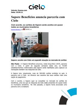 Sapore Benefícios anuncia parceria com Cielo