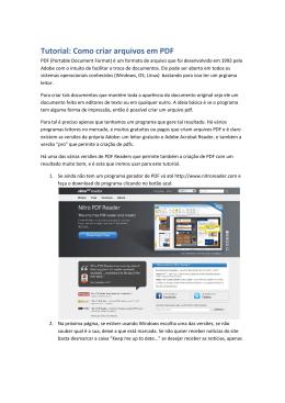 Tutorial: Como criar arquivos em PDF