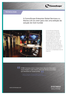 A CommScope Enterprise Global Services e a