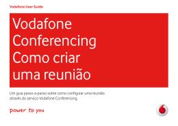Vodafone Conferencing Como criar uma reunião