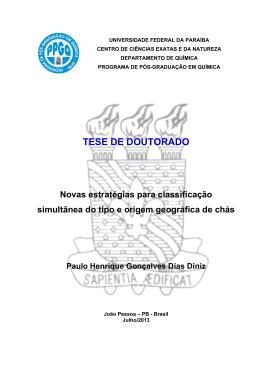 DINIZ,P.H.G.D. - Departamento de Química - UFPB