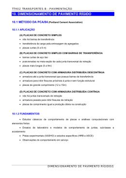 Método PCA-84 - departamento de transportes da ufpr