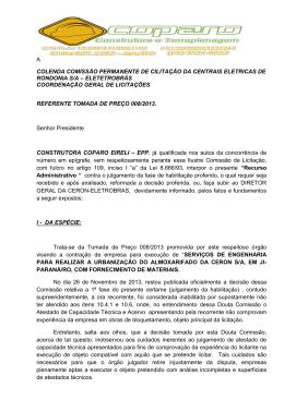 a colenda comissão permanente de cilitação da centrais eletricas