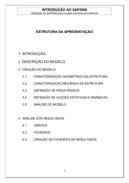 Apontamentos sobre programa SAP2000