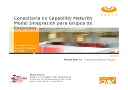 Consultoria no Capability Maturity Model Integration para Grupos de