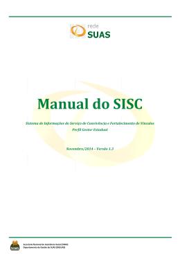 Manual do SISC - MINISTÉRIO DO Desenvolvimento Social e