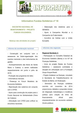 Informativo Fundos Solidários n° 18