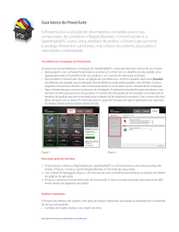 Guia básico do PowerSuite O PowerSuite é a solução de