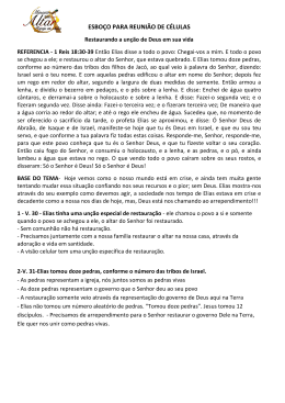 ESBOÇO PARA REUNIÃO DE CÉLULAS