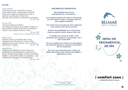 MENu dE TRATAMENTOS dE SPA - Belmar Spa & Beach Resort