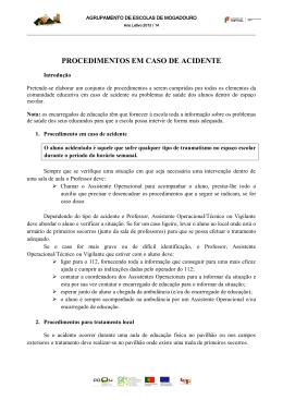 PROCEDIMENTOS EM CASO DE ACIDENTE