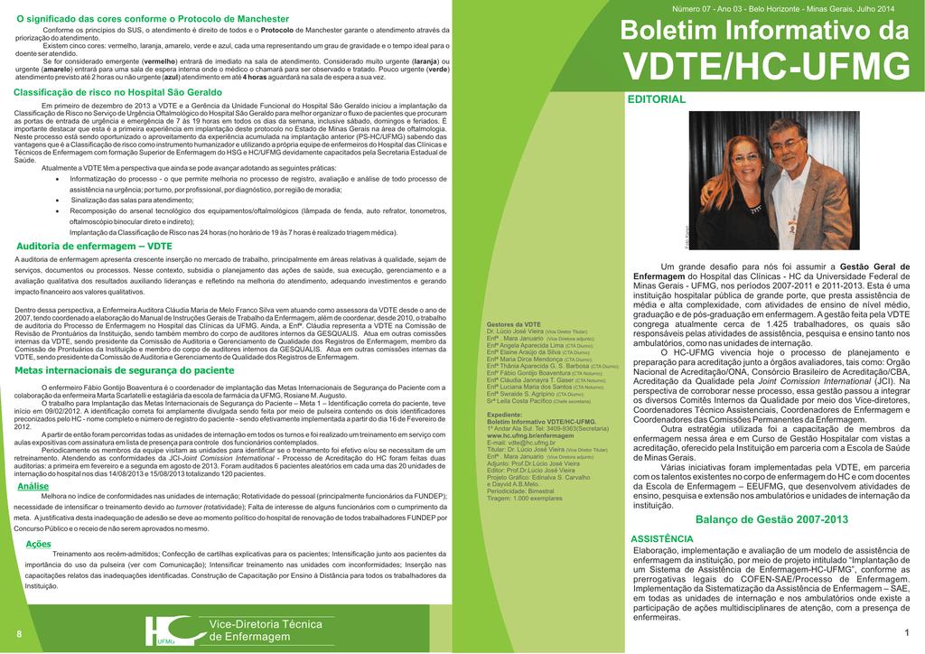 fcad9ea036a Boletim VDTE 7 - Hospital das Clínicas da UFMG