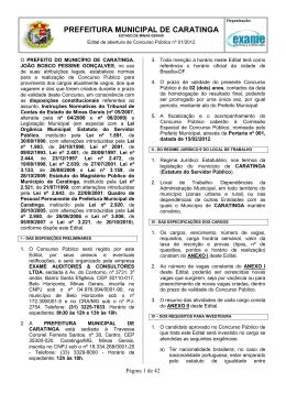 prefeitura municipal de caratinga
