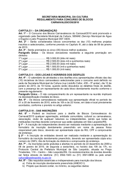 Regulamento Concurso Blocos Carnavalescos