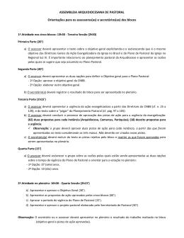 Orientações para os assessores e secretários