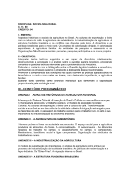 Documento em SOCIOLOGIA RURAL