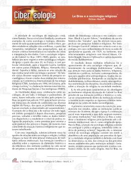 Le Bras e a sociologia religiosa - Ciberteologia