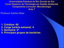 I. Bacteriologia II. - Professor Antônio Ruas