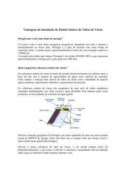 Vantagens da Instalação de Painéis Solares Térmicos